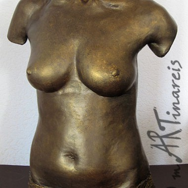 Torso in Bronze-Optik