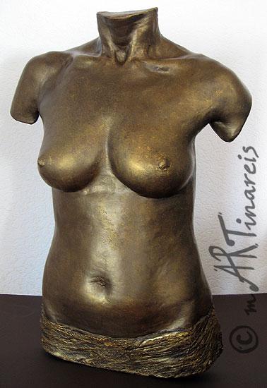 Torso in Bronze-Optik