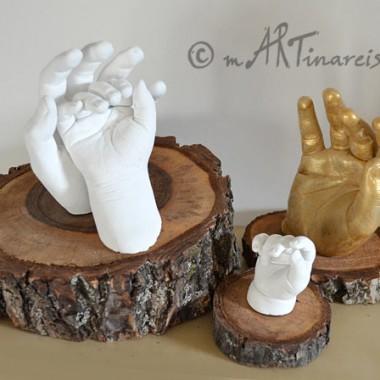 Händeinstallationen auf Massivholzsockel