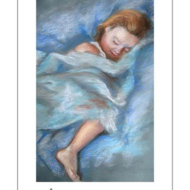 Kunstdruck ´Schlaf Baby, schlaf...´