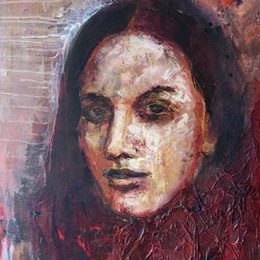 -Louisas Geheimnis--- 60x80 cm, Acrylmischtechnik