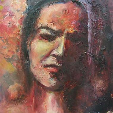 -Rosalias Schmerz--- 30x40 cm, Acryl, Öl