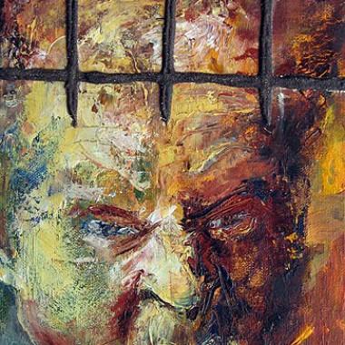 -Gefangener Trotz--- 20x30 cm, Acrylmischtechnik