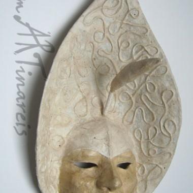 ´Calla´- dekorative Wandmaske aus Pappmaché