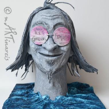'Ewiger Optimist' - 2012 - Papierplastik