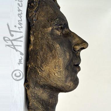 Junger Mann - Gesichtsabformung in Bronze-Optik