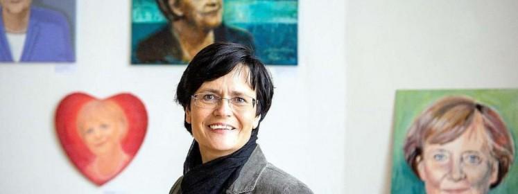 Christiane Lieberknecht bei der Ausstellungseröffnung, FOTO: BILD