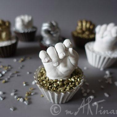 Babyhände in Edel-Design, Gold - Weiß, Bronze, Silber...