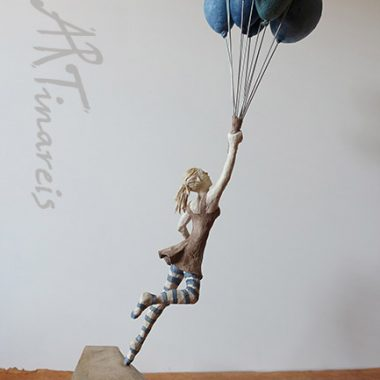 ´To be free´ - Pappmache Figur, ca. 60 cm