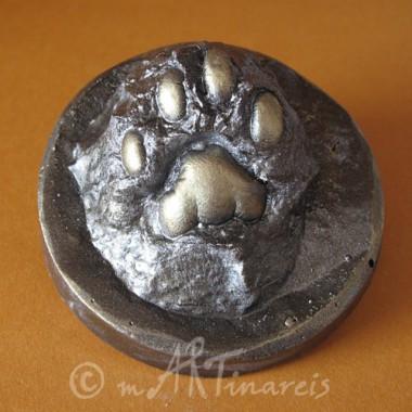 Katzenpfote Abformung - Erinnerung an verstorbenen Kater Zeus
