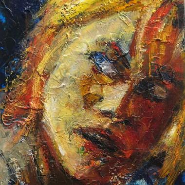 -Frau Lot--- 40x40 cm, Öl