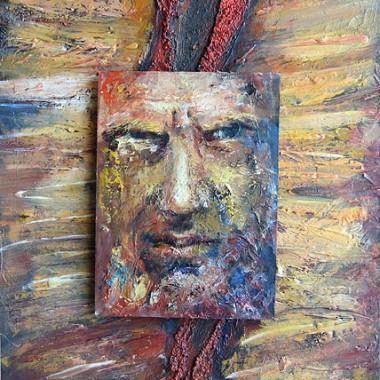 -Sein Lebensweg--- insg. 50x70 cm, Acrylmischtechnik, 2 Ebenen