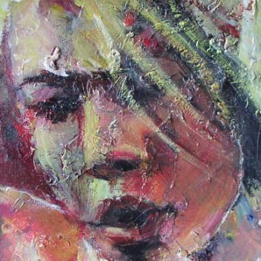 -Gedanken--- 20x30 cm, Acrylmischtechnik, verkauft