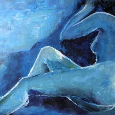-Feeling blue--- 80x60 cm, Acryl, verkauft
