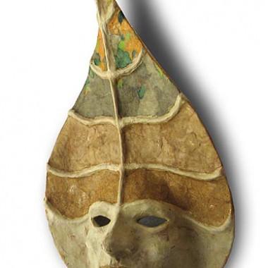 ´Der Herbstkönig´ dekorative Wandmaske aus Pappmaché