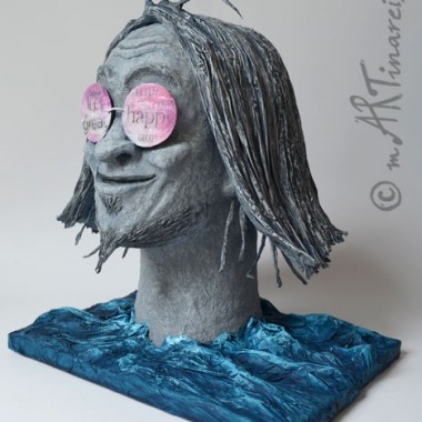 'Ewiger Otpimist' - 2012 - Papierplastik