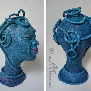 'Ganz schön durchgedreht' - weitere Ansichten- 2012 - Papierplastik, Seil, Acrylfarbe