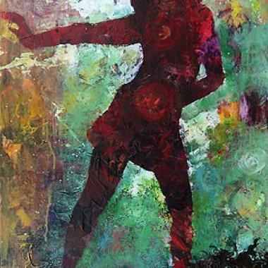 -Dancing Queen--- 50x100 cm, Acrylmischtechnik