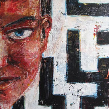 -Labyrinth der Frauenseele--- 50x70 cm, Acrylmischtechnik, verkauft