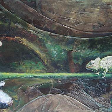 -Sumpf der Gier--- 80x40 cm, Acrylmischtechnik, verkauft