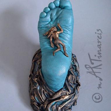 ´Fußbett´- Fußabformung - Mischtechnik