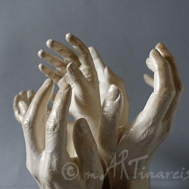 Körperabformung - Hände, Familie