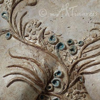 Detail - Gestaltung des 3D- Ornaments aus Pappmache