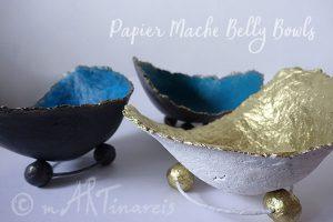 Belly Bowls aus Pappmache
