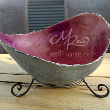 Belly Bowl - silber-rot